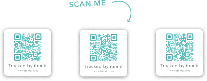 Itemit sample QR asset tags