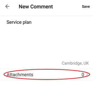adding attachments to comments