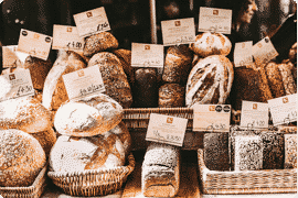 bread baskets and bakeries