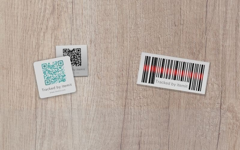 itemit asset tagging options QR vs Barcode
