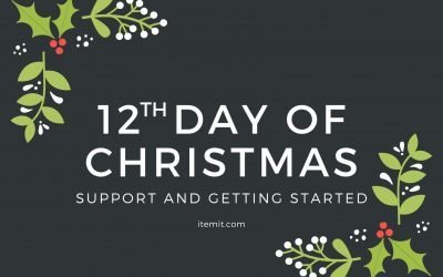 12th Day of Christmas: Support and Getting Started, New Year New Start