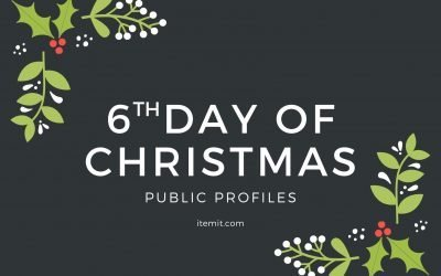 6th Day of Christmas: Public Profiles
