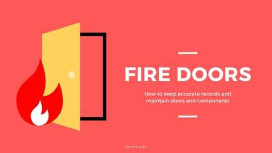 Fire doors and asset tracking