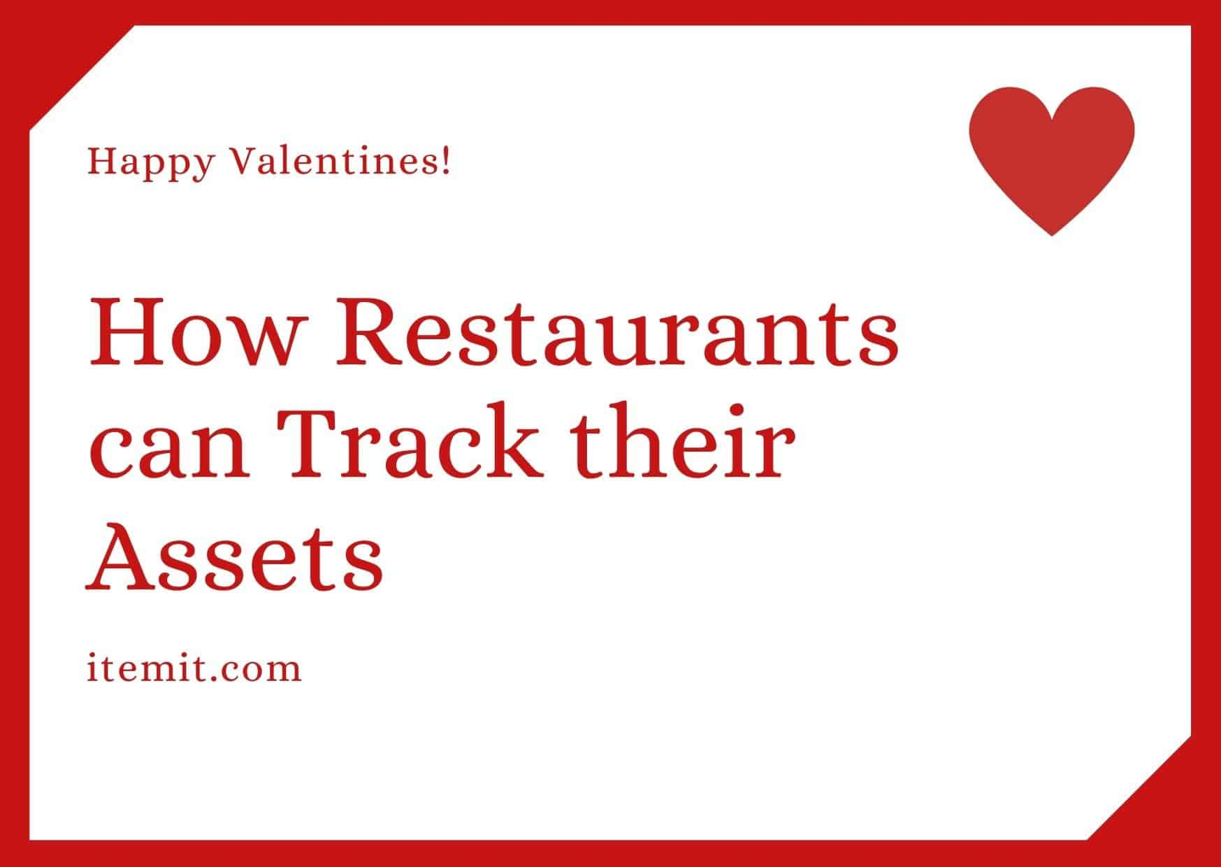 how restaurants can track their assets with asset tracking software