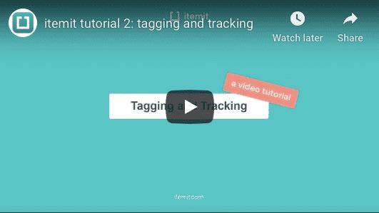 Using QR code asset tags