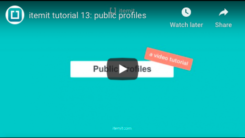 Tracking maintenance with public profiles