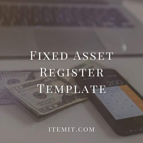 Fixed Asset Register Template