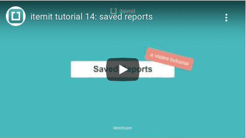 Save Reports With itemit's Asset Tracking Software