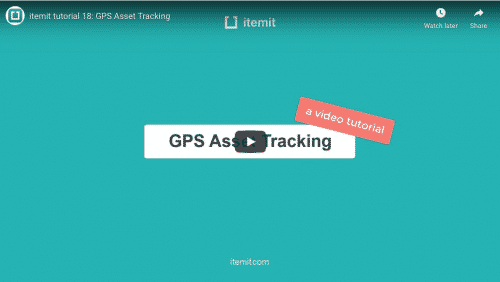 gps asset tracking with itemit